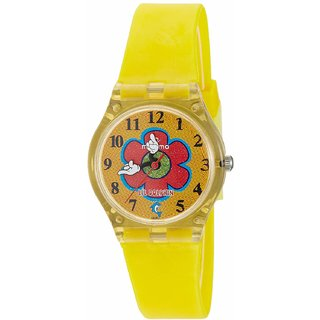 Maxima Analog Yellow Dial Childrens Watch - 04417PPKW