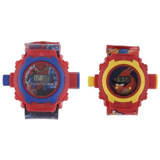 SMC Multicolor Digital Watch - Pack of 2