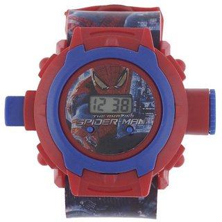 Spiderman Multicolor Digital 24 image Projector Watch