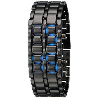 SMC Black-Blue Metallic Digital Watch