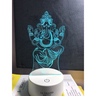 Ganesh Ji 7 Color Changing Led With Touch Panel