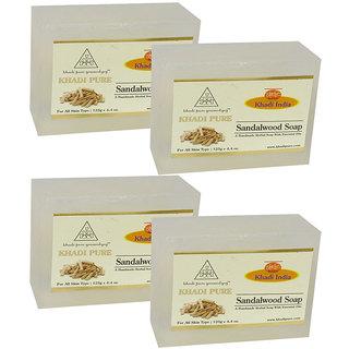 Khadi Pure Herbal Sandalwood Soap - 125g (Set of 4)