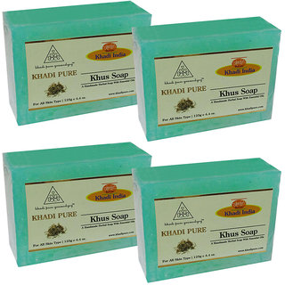 Khadi Pure Herbal Khus Soap - 125g (Set of 4)