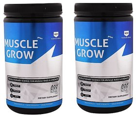 Greenex Nutrition Muscle Grow Plus 1lb Strawberry Creme Pack Of 2