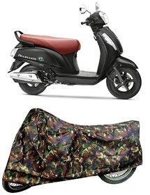 De AutoCare Premium Quality Army/ Junglee Matty Two Wheeler Scooty Body Cover for Suzuki Access 125 New