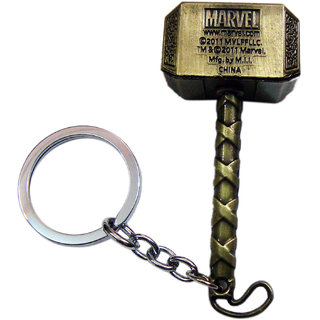 Thor Hammer Metal Keychain Silver Color Marvel Avengers - Best Product For Gifting Gold