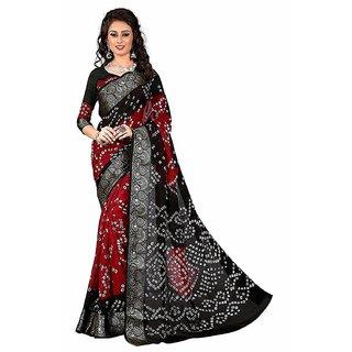 Florence Multicolor Kalamkari Bhagalpuri Silk Saree With Blouse