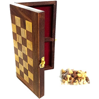 Phirk Craft Wooden Chess Board/ Leisure Time Game For Home or Traveling