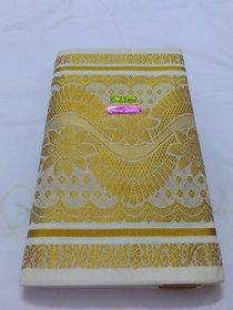 Kerala Cotton Saree Zari Work Pallu W/B Saree Handloom 100 Pure Cotton Saree