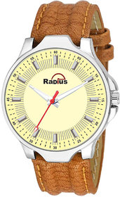 Radius Brown Strap Round Dial Formal Wrist Watch For Mens and Boy RQ-88