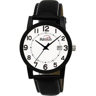 Radius Black Strap Round Dial Wrist Watch For Mens and Boy RQ-84