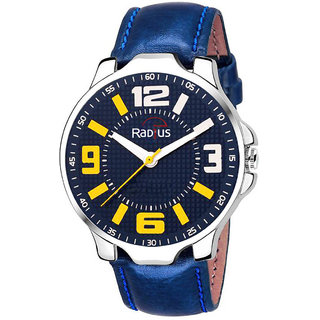 Radius Blue Strap Round Dial Wrist Watch For Mens and Boy RQ-85