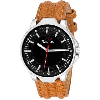 Radius Brown Strap Analog Wrist Watch For Mens and Boy RQ-87