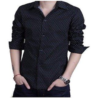 Royal Fashion Dotted Black Casual Shirt For Men