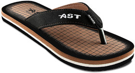 A-Star Tan Synthetic EVA Casual Slippers For Men