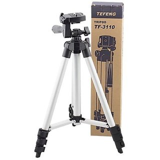 Tripod 50 Inch Aluminum Tripod + Universal Smartphone Holder Mount + Carry Bag