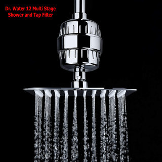 Dr. Water 12 Multistage Shower and Tap Water Filter Purifier for Kitchen and Bathrooms Wall Head Handheld Showers