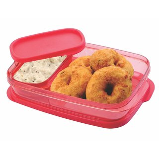 Unbreakable and transparent plastic lunch Box