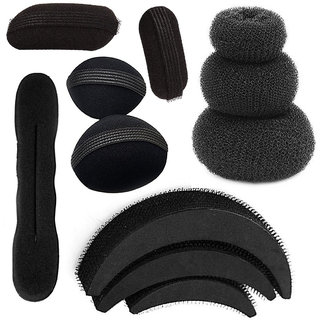 GaDinStylo Pack of 11 Items Combo Hair Accessories Set for Wemen and Girls (Black)