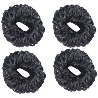 GaDinStylo Set of 4 Pieces Hair Juda Hair Accessory Set (Black)