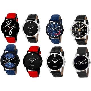 Mark Regal  Pack of 8 Designer Analog Wrist Watches For Boys/Men-MR016