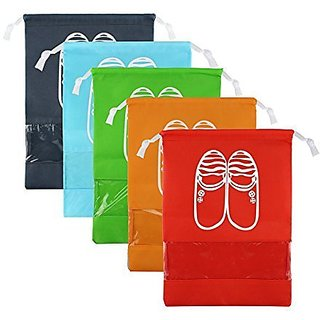 Aeoss Portable Travel Shoe Bags Multicolor Storage Organizer Bag for Men Women Set of 5