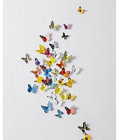 Jaamso Royals 'Multi Color 3D Butterflies' Wall Sticker (21 cm X 29.7 cm) H1-005