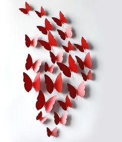 Hd-011 Red Butterfly Wall Sticker Jaamso Royals