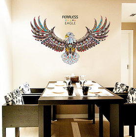 Jaamso Royals ' new eagle wings large wall stickers  ' Wall Sticker (PVC Vinyl 90 cm X 60 cm Decorative Stickers)