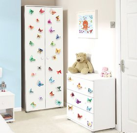 JAAMSO ROYALS DIY 3D Multicolour Butterfly  Wall Sticker for Home Dcor