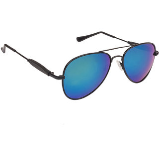 Arzonai Classics Aviator Black-Green UV Protection Sunglasses For Men & Women [MA-555-S8 ]