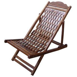 Pleasing Desi Karigar Wooden Foldable Garden Chair Interior Design Ideas Oxytryabchikinfo