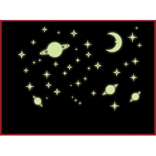 Jaamso Royals 'Radium Galaxy of Stars' Glow in Dark Wall Sticker (21 cm X 29.7 cm)