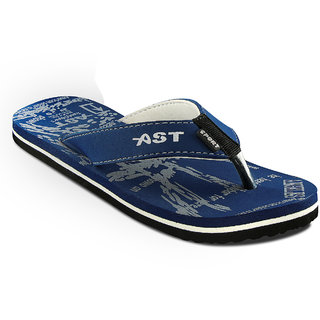 A-Star Navy Blue Synthetic EVA Casual Slippers-AST-12