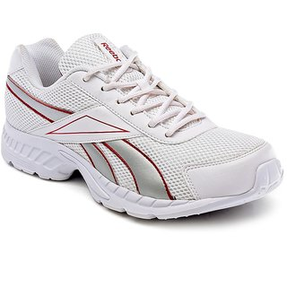 Reebok Mens White Running Shoes