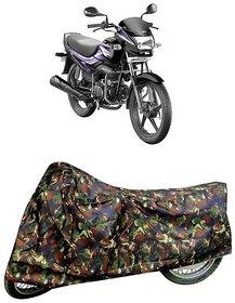 De AutoCare Premium Quality Army/ Junglee Matty Two Wheeler Bike Body Cover for Hero Super Splendor