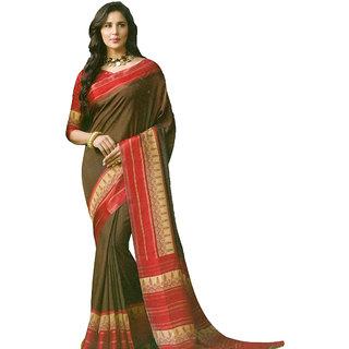 Sanksar Sanskar Brown Silk Saree Casual/Party/Formal/Wedding For Women