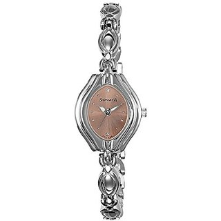 Sonata Analog Pink Dial Womens Watch-87009SM02