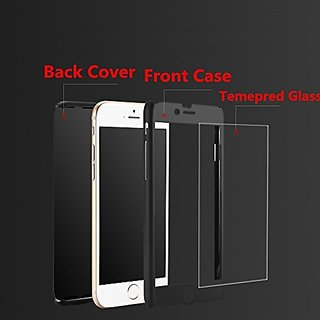 low priced 95e11 75b64 Mobimon 360 Degree Full Body Protection Front Back Cover for RedMi Note 5  Pro With Tempered Glass (iPaky Style) - Black