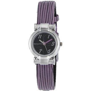Sonata Analog Black Dial Womens Watch - NF8944SL02J