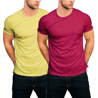 100 Cotton Soild Plain Round Neck half sleeves t Shirt for Men By InkMyTale