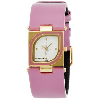 Sonata Analog White Dial Womens Watch - ND8919YL01A
