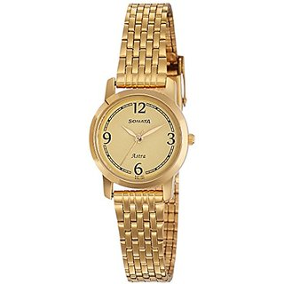 Sonata Analog Champagne Dial Womens Watch-87018YM02CJ