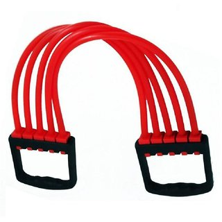 Men & Women Personal Rubber Rope Adjustable 5 SILICONE STRIPES CHEST EXPANDER Resistance Tube