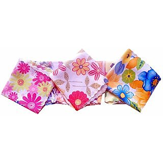 SOFT N SWEET Printed Multicolor Face Towels / handkerchiefs For Girls Women Kids ( 12 Pcs )