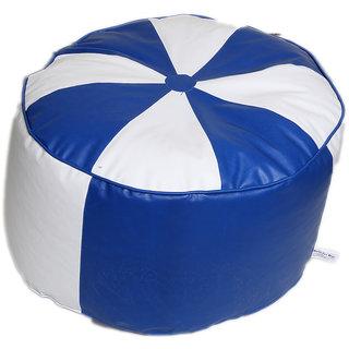 Maruti fun bags Bean Bag cover Round Puffy/Floor Puffy Standard Blue Colour Without Beans