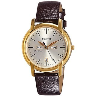 Sonata Analog White Dial Mens Watch - 7954YL06