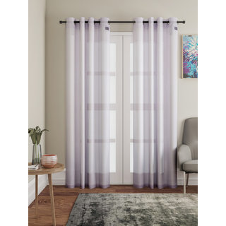 Lushomes Pink Design 2 Melody Sheer Door Curtains 4.5 Ft x 7.5 ft. (54 x 90 Single pc)