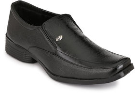 Groofer Black Slip-on Formal Shoes For Men's