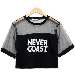 Raabta Fashion Black Never Cost Tank Top